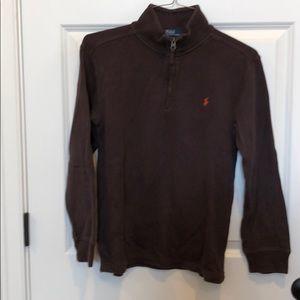 Polo by Ralph Lauren YL brown 1/4 zip
